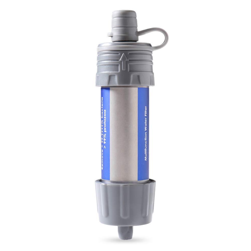 Sistema de filtraci/ón de Agua al Aire Libre para preparaci/ón para emergencias Camping Viajar Mochilero Explopur Paja con Filtro de Agua