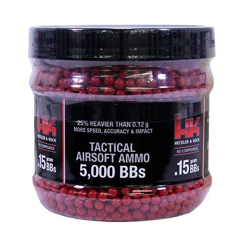 Heckler & Koch 2230113 HK Red .15G 6 mm - 5000 CT. Air Guns BBS & Pellets
