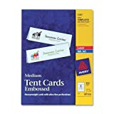 Wholesale CASE of 10 - Avery Laser/Inkjet Embossed Tent Cards-Laser/Inkjet Tent Cards,Medium,Perf.,2-1/2''x8-1/2'',100/BX,WE