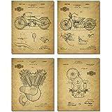 Harley Davidson Patent Wall Art Prints - Set of Four Photos