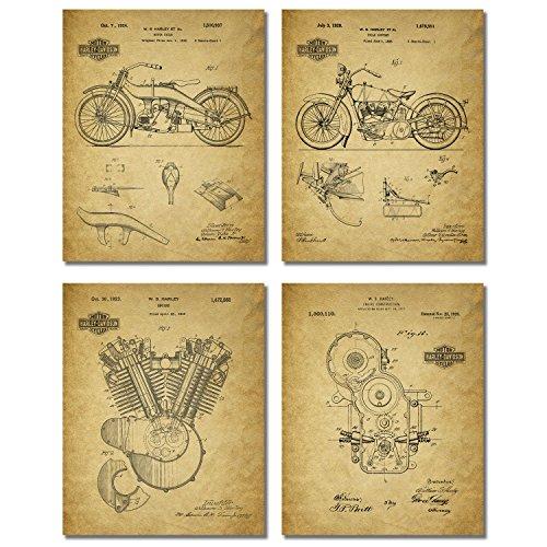 harley-davidson-patent-wall-art-prints-set-of-four-photos