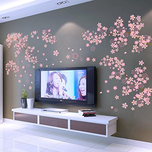 Oksale® 1PC Plum Blossom PVC Removable Bedroom Home Sofa TV