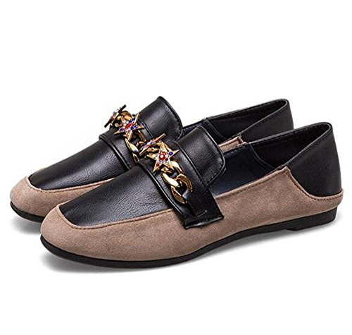 diamante de 5 informal zapatos EU38 mujer CN38 de 3 UK5 5 zapatos de Carrefour US7 gamuza KUKI planos Zapatos nvP10P86