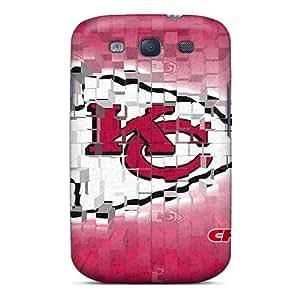 ErleneRobinson Samsung Galaxy S3 High Quality Hard Phone Cover Support Personal Customs Stylish Kansas City Chiefs Skin [Mim16131UdEb]