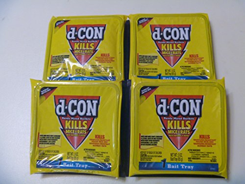 D-CON Ready Mixed Baitbits 4- 3 oz. Trays Rat Poison dcon by Reckitt