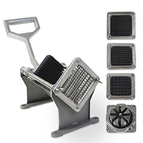 Superbuy French Fry Cutter Fruit Vegetable Potato Slicer Commercial Grade W/ 4 Different Size Blades