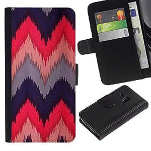 Billetera de Cuero Caso del tirón Titular de la tarjeta Carcasa Funda del zurriago para Samsung Galaxy S3 MINI NOT REGULAR! I8190 I8190N / Business Style Quilted Crocheted Fabric Design