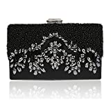 Bagood Women's Handmade Glassbeads Embroidery Crystal Rhinestones Evening Bag Party Handbag Clutch Purse