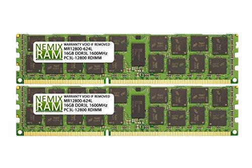 Fujitsu S26361-F5309-E643 S26361-F5309-L643 32GB (2x16GB) DDR3 1600 (PC3 12800) ECC Registered RDIMM Memory by NEMIX RAM