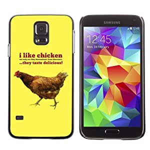 Licase Hard Protective Case Skin Cover for Samsung Galaxy S5 - I Like Chickens