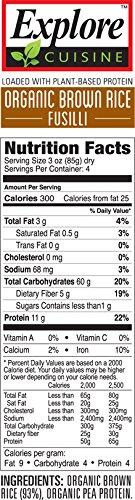 Explore Cuisine Organic Brown Rice Fusilli, Organic, Gluten Free, non-GMO Verified, 12 oz (Pack of 6) by EXPLORE CUISINE (Image #2)