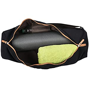SANUVIA Large Yoga Mat Carrier Bag with Strap Zipper Cover Designer Case Fits Water Bottle, Towel, Sport Accessories and Gym Equipment for Your Workout