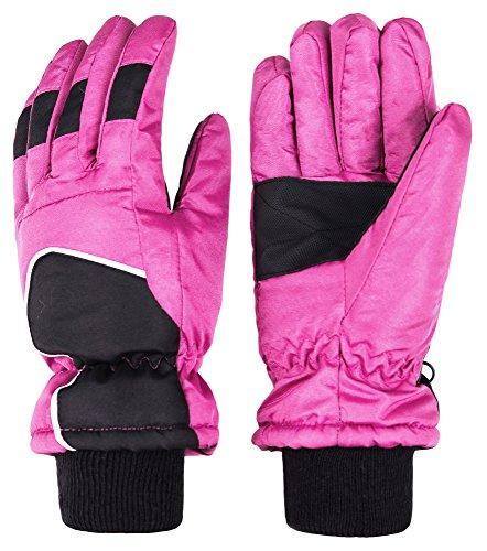 Seal Waterproof Glove (Wantdo Women's Waterproof Thinsulate Thick Ski Gloves Insulated Winter Sports Gloves(Fushia, Medium))
