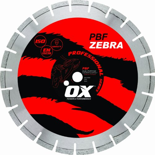 OX OX-PBF-18 Professional Dual Purpose 18-Inch Walk-Behind Saw Diamond Blade, 1-Inch bore