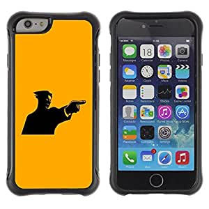 """Hypernova Defender Series TPU protection Cas Case Coque pour Apple iPhone 6+ Plus(5.5 inches) [Amarillo Mad individuo""""]"""