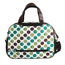 Baby Milk Bottle Diaper Polkadot Bag Mum Shoulder Handbag K1724 (Blue)