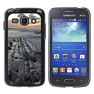 Paccase / SLIM PC / Aliminium Casa Carcasa Funda Case Cover para - Sunset Sea Cliffs Ocean Clouds Blue - Samsung Galaxy Ace 3 GT-S7270 GT-S7275 GT-S7272