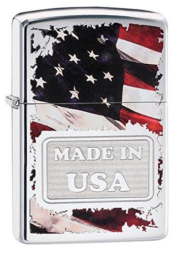 Zippo Made in USA High Polish Chrome Pocket Lighter