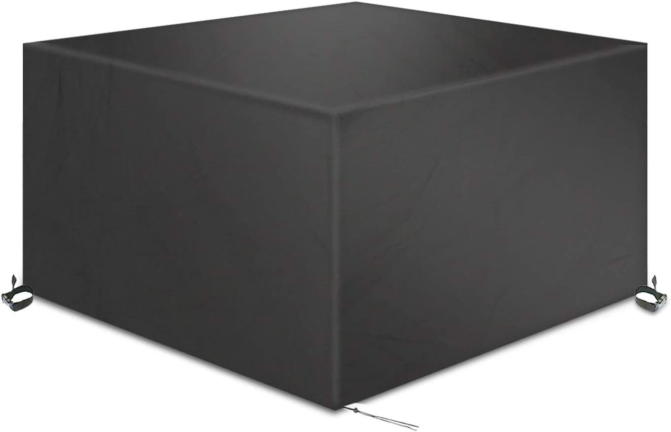 TAOCOCO Funda para Muebles de Jardín Impermeable, protección contra el Polvo y los Rayos UV, Cubierta de Mesa y Silla para Muebles de jardín, Resistente al Agua y sin decoloración, 200x160x70 -Negro