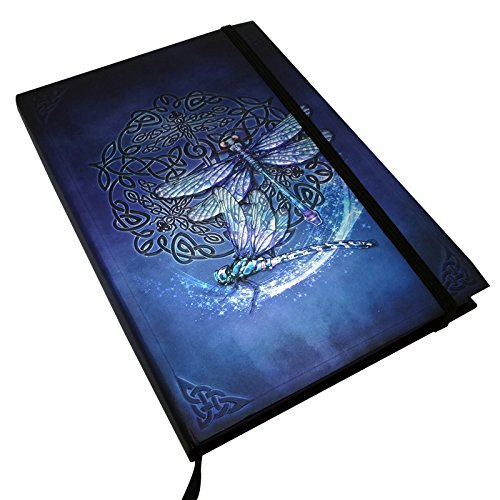 Brigid Ashwood Zodiac Celtic Dragonfly Plain Blank Paper Journal With Bookmark Strip 6