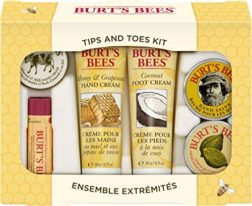 Burt's Bees Tips and Toes Kit Gift Set, 6 Travel Size...