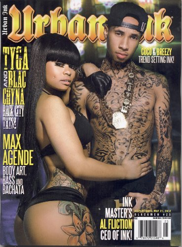Black Men's Urban Ink Magazine #25 Tyga & Blac Chyna, Max Agende, Al Fliction