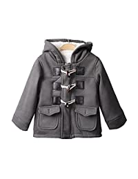 Baby Unisex Hooded Claw Button Zipper Jacket Coat 2 Colors Available