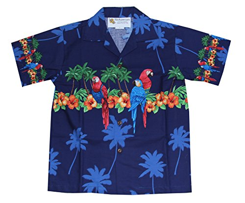 Alohawears Clothing Company Made In Hawaii! Boys Hibiscus Parrot Cruise Luau Hawaiian Aloha Shirt