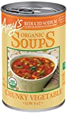 Amy's Soups, Reduced Sodium Chunky Vegetable, 14.3 Ounce (Pack of 12)