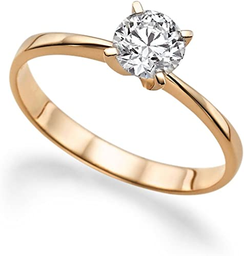 Ladies Sterling 925 Solid Silver 1 CT White Sapphire Solitaire Engagement Ring