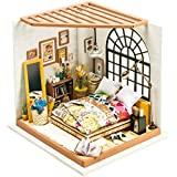 Rolife DIY Miniature Dollhouse Kit,Dreamy Bedroom with Furniture,Wooden Dollhouse Kit for Kids,Toy Playset Gift for Teens,Best Birthday/Christmas for Women and Girls