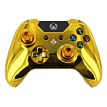 """""""Gold Chrome"""" Xbox One Custom Modded Controller with Gold Buttons and OEM Thumbsticks"""
