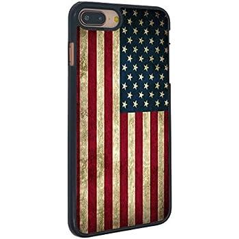 0a2c667fc73 American Flag iPhone 7 Plus Case Vintage American Flag for iPhone 7 Plus  Case(Black Hard Plastic)