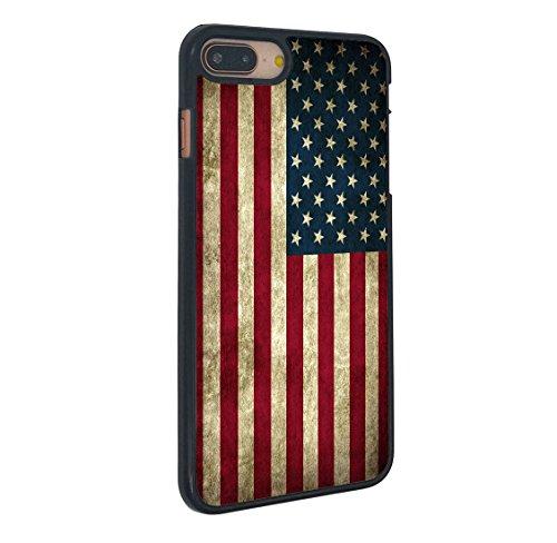 Flag Phone - American Flag iPhone 7 Plus Case Vintage American Flag for iPhone 7 Plus Case(Black Hard Plastic)