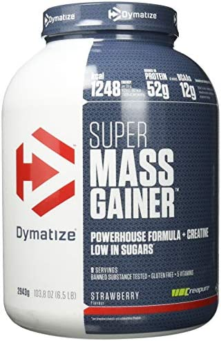 Dymatize Super Mass Gainer, Strawberry, 1er Pack (1 x 2.722 kg)