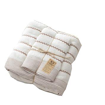 ZYJY Juego de Toallas de baño, Toalla de algodón con Rayas, 1 Toalla de baño, 1 Toalla, 3 Colores,B: Amazon.es: Hogar