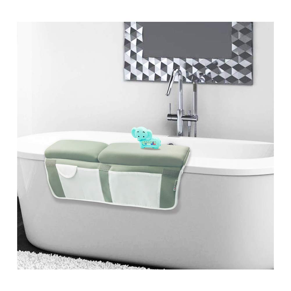 Bath Kneeler with Elbow pad Rest Set, Bathing Kneeler Pad Bathtub Kneeling Waterproof Pad Set for Infant, Baby Shower Gift