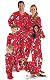 PajamaGram Hoodie-Footie Winter Whimsy Matching Family Pajama Set Red