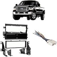 Fits Ford F-250/350/450/550 2005-2007 Single DIN Harness Radio Dash Kit