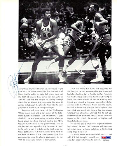 Ray Scott & Dan Issel Autographed Magazine Page Photo #V57490 PSA/DNA Certified Autographed NBA Magazines