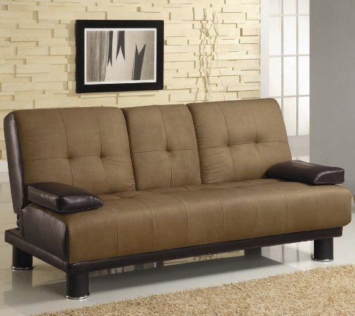 Brown-MicrofiberVinyl-Leather-Finish-Sofa-Bed-by-Coaster-300134