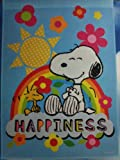 "Peanuts Snoopy & His Friend Woodstock "" HAPPINESS "" Spring House Flag"