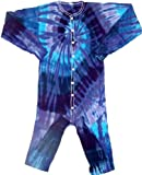 Tie Dyed Shop Twilight Spiral Tie Dye Union Suit-Medium-Multicolor