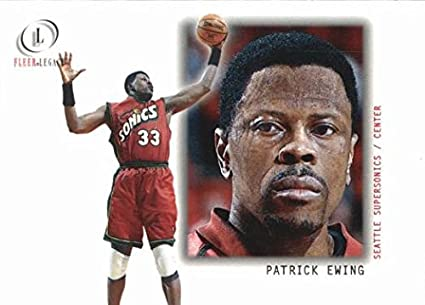 best sneakers 27871 9ab22 Amazon.com: Patrick Ewing Basketball Card (Seattle ...
