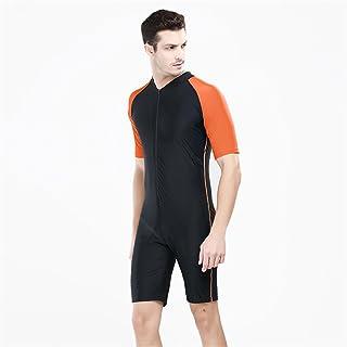 Fortuning's JDS® Protettivo Un Pezzo Costumi da Bagno del Bicchierino-Manicotto Nuovo Design UV Moda per Gli Uomini