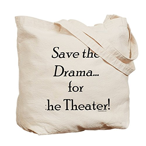 Cafepress – Save the Drama... Theater – Borsa di tela naturale, tessuto in iuta
