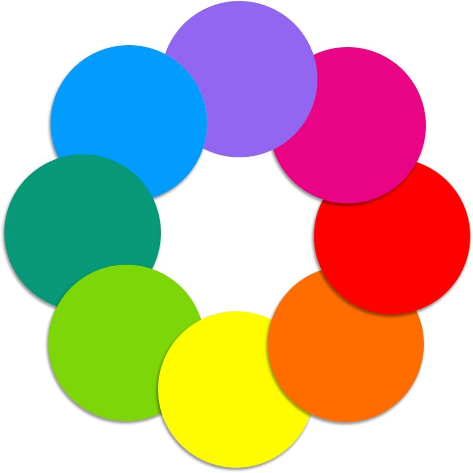 Dry Erase Circles - 8 Pieces Colorful Dry Erase Dot Stickers Table Whiteboard 11.8 inch Removable Wall Decal for Classroom Guided Reading Small Group (11.8 inch, 8 Pack)