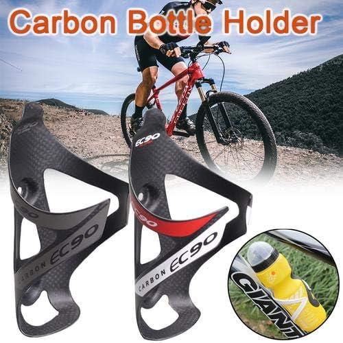 heresell Porte-bidon Porte-bidon Support Porte Bouteille Bidon Velo Bicycle VTT Noir Gourde Polycarbonate Carbone