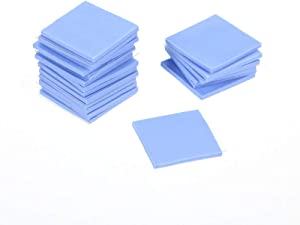 Godyluck- Thermal Silica Sticker for Laptop CPU Graphics Card Northbridge and Southbridge Solid State Cooling Silicone Gel Pad LED Chip Cooling Heat Dissipation 15151.0mm 20pcs
