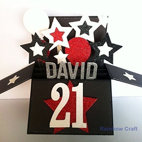 Amazon Com Name Age Personalised Birthday Card 21st Happy